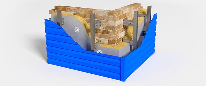 Вентилируемый фасад и его поразительные вентилируемые свойства. Изготовление и монтаж Вентфасадов (НВФ). - Металлосайдинг