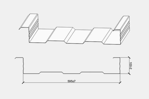 Рядовой кассетный профиль сэндвич панели