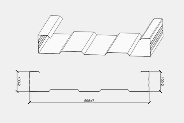 Стартовый кассетный профиль сэндвич панели