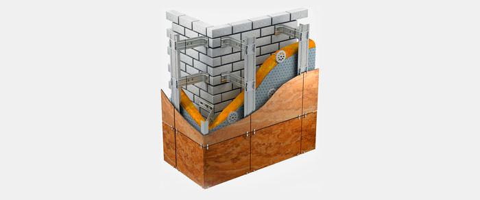 Навесные фасадные системы - Вертикальная подсистема