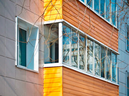 Система навесного вентилируемого фасада ДЕКОТ для облицовки жилого дома