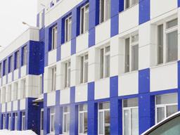 Облицовка административно-производственного здания